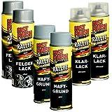 Motip Dupli Felgen Set, 6 Spraydosen Grundierung Felgensilber Klarlack Lackieren | Set besteht aus: 2x Grundierung, 2x Felgensilber, 2x Klarlack