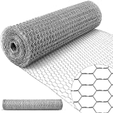 Amagabeli 1Mx25M Grillage à Poule 13mm Galvanisé Maille Hexagonal Cloture poulailler Jardin voliere Poulailler Jardin Grillage Triple Torsion...