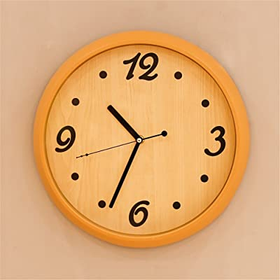 Znzbzt Faux wood-grain living room wall clock battery mute Mine second bedroom wall clock