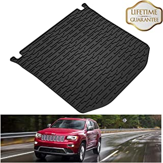 KIWI MASTER Rear Cargo Mat Liner Compatible for 2011-2019 Jeep Grand Cherokee All Weather Protection Floor Slush Mats,1 Pcs,Black