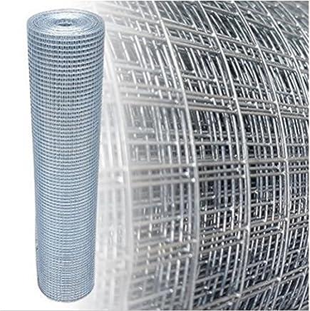 Drahtgitter 0,5m x 5m TD02 Kaninchendraht,K/äfigdraht Volierendraht Drahtgeflecht, Kleintierzaun Drahtzaun verzinkt und PVC-beschichtet,gr/ün,viereckgeflecht,Maschenweite 13mm,punktgeschwei/ßt