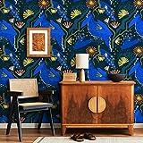 CPR0244 - Papel pintado TNT de rollo de 50 cm de altura x 10 m de 5 m², revestimiento de muebles y paredes de cocina, dormitorio y baño