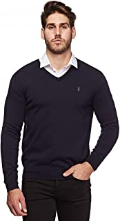 Polo Men's Classic Fit Long Sleeve V-Neck Pima Cotton...