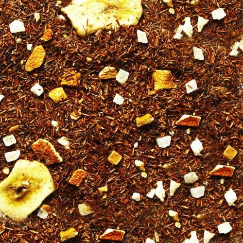 Rotbuschtee lose Rooibos-Tee Sylter Weihnachtszauber Orangen, Mandeln, Zimt, Bananenstück, Kokosnussöl, Papaya Rooibos Tee fruchtig-zimtige Note Südafrika 100g