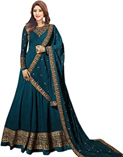 ANK Women's Georgette & Santoon Semi-stitched Salwar Suit