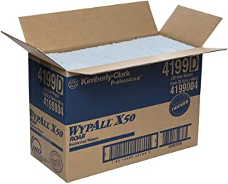 WypAll 4199 WypAll X50 Blue Single Sheet Large Wipers, Case of 250 Wipers, Blue 2.900 kilograms