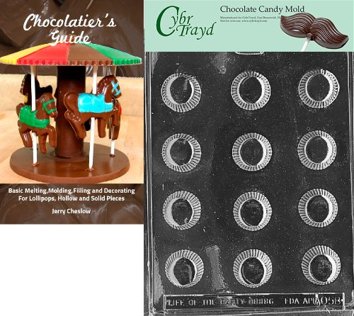 Cybrtrayd Bk-AO058 Peanut Butter Cup All Occasions Chocolate Candy Mold