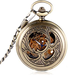 YXZQ Pocket Watch, Fashion Mascot Phoenix Style Pendant for Men Women Friends Elders Hand winding Mechanical Pocket Watches Vintage Gifts