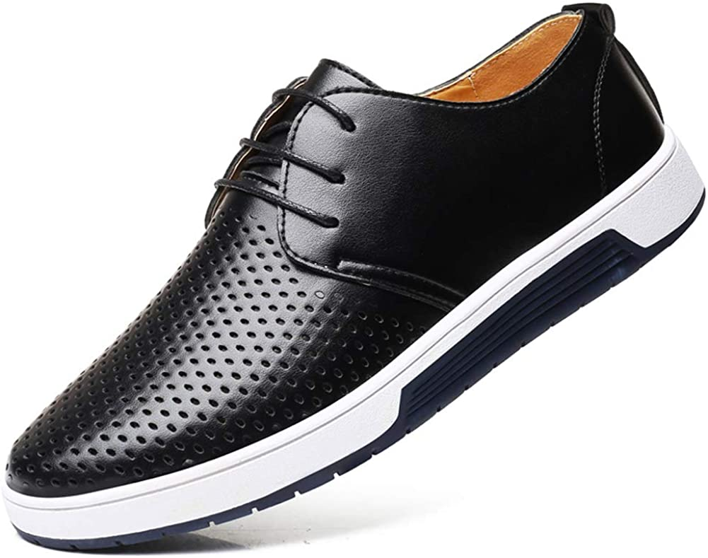 Moodeng Weekly update Men`s latest Causal Breathable Loafers Flats Lace Classic Shoes