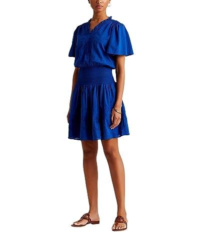 LAUREN Ralph Lauren Embroidered Cotton Voile Dress