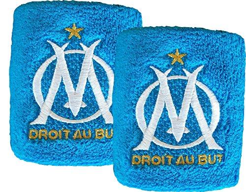 Olympique de Marseille polsen, badstof, officiële collectie, 2 stuks
