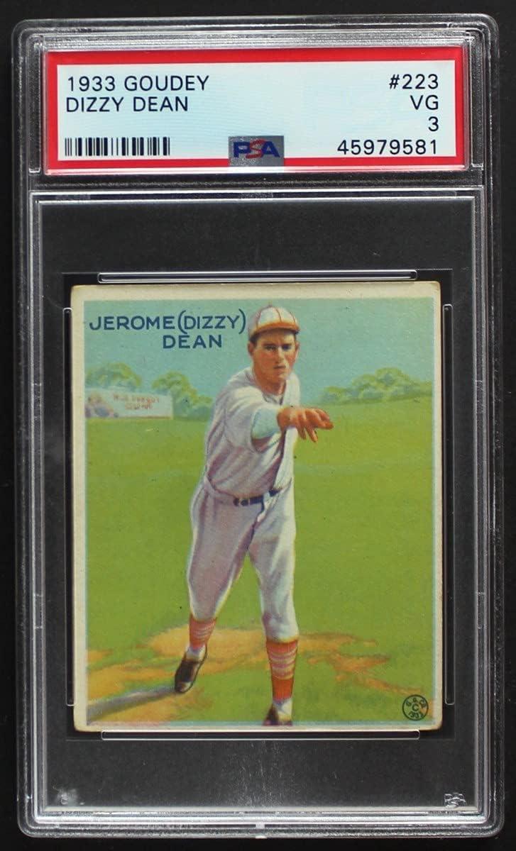 1933 Goudey Be super welcome # 223 Dizzy Dean Louis Baseball St. Card Cardinals New item