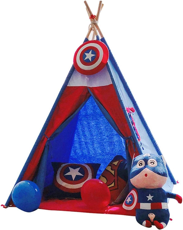 Spielzelte Castle Blau Toys Faltbare Spielzeug Zimmer Groen Raum Kinderzelt Kindergarten Indoor Outdoor Leseecke 110 cm Spielhaus (Farbe   Blau, Größe   110  110  160cm)