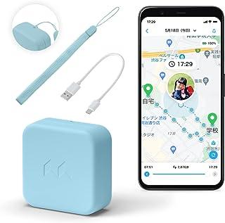 mixi「みてねみまもりGPS」2021年モデル迷子防止の小型GPS ストラップ・充電ケーブル付き (ブルー)