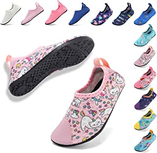 Coolloog Kids Swim Water Shoes Baby Soft Sole Shoes First Walker Barefoot Skin Infant Toddler Moccasins