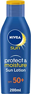 NIVEA, Sun Lotion, Protect & Moisture, SPF 50+, 200ml