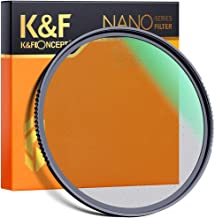 K&F Concept 72mm Nano-X Black Soft Filter 1/4 Special Effects Filter, Double Side Multi-Coated Black Cine Diffusion Effect Filter, Waterproof/Scratch Resistant for Camera Lens