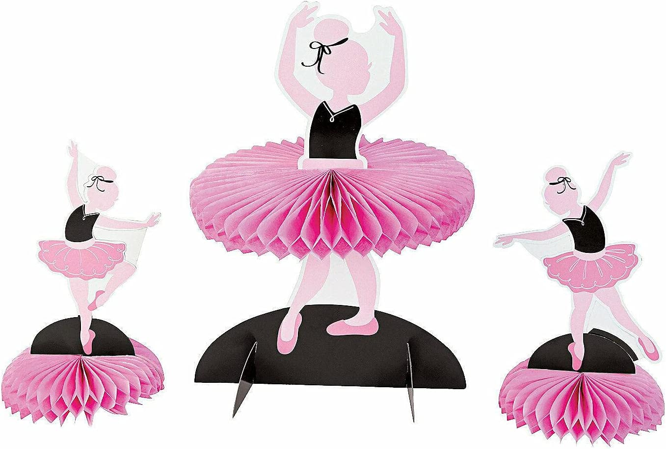 Max 76% OFF Little Ballerina Centerpieces - Party Deco Pieces Desk 3 Decor Directly managed store