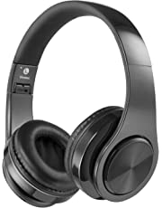 Newpower無線ブルートゥースヘッドホン Bluetoothヘッドホン 超優れた立体音声音質と重低音音質 折りたたみ可能 TFカードスロットとUSB充電付くオーディオケーブル付く 各種なブルートゥース設備に適合する おしゃれな音楽運動ブルートゥースヘッドホン (黒色)