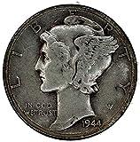 1944 D Mercury Winged Liberty Dime Good