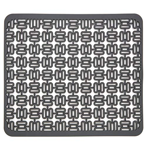 cusinine Silicone Sink Mat, Kitchen Sink Dish Drying Mat, Adjustable Sink Protector, Quick Draining Pad for Sinks, Easy Storage