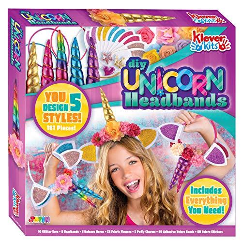 JOYIN Erstellen Ihre eigenen Einhorn Haarreif, DIY Unicorn Stirnband für Mädchen, Haarschmuck für Geburtstag Party Karneval Hochzeit Halloween Weihnachten