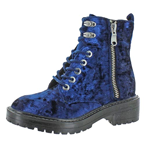8de103acca6 Steve Madden Women s Revive Lace-Up Chunky Heel Ankle Combat Boots