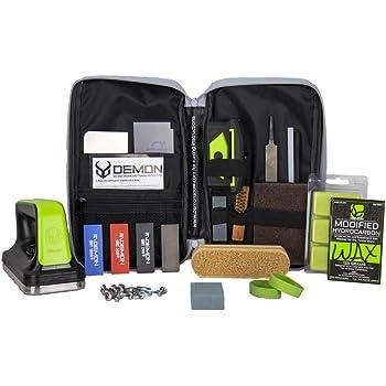 Demon Mechanic Elite X Ski Tuning Kit & Snowboard Tuning Kit with Ski Wax Iron, Ski and Snowboard Wax & Demon Elite X Ski and Snowboard Edge Tuner w/Diamond Files