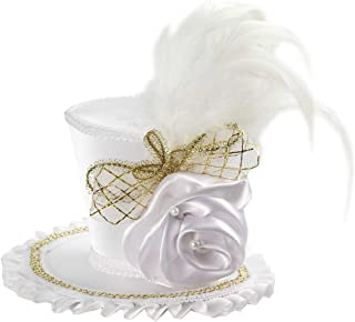 Women's Mini Top Hat with Rose Costume Accessory