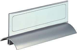 Durable Desk Presenter De Luxe - Paquete de 2 fundas de tarjetas de identificación, 61 x 210 mm, transparente