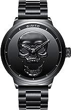 Cool Skull Horloge Zwart RVS Horloge Band Goud Wij...