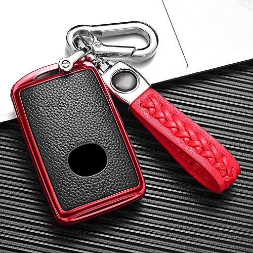 Llavero de la cubierta de la llave del coche y Eacute; Estuche para llaves y Eacute; Coche Para Mazda 3 Axela Cx-30 2019 2020 Cx-4 Cx-5 Cx-8 Cx-9 2020 - Cuero Sintético - 3 Botones - Rojo Verde