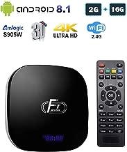 Linkplus A95XF1 Android 8.1 Smart TV Box, Amlogic S905W Quad-core Cortex-A53 2GB RAM/16GB ROM Mali-450 GPU WiFi 2.4GHz Ethernet HDMI 4K Full HD H.265 Media Player, OTT TV Box with USB