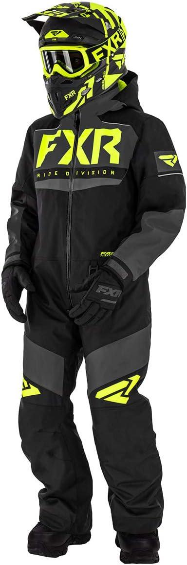 Black//Charcoal//Hi-Vis FXR Youth Helium Monosuit Adjustable Cuffs Thermal Flex Insulation Warm Durable 10