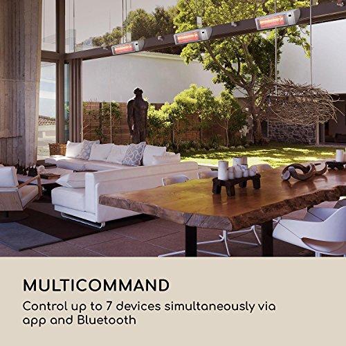 Blumfeldt Gold Fever Smart • Infrarot-Heizstrahler • Terrassenheizstrahler • 2000 W • 6 Wärmestufen • Infrarot-Wärme • Bluetooth • App-Control • bis 20 m² • inkl. Fernbedienung und Wandhalterung • weiß - 5