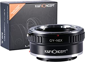 K&F Concept Lens Mount Adapter, Contax/Yashica (C/Y) Lens to Sony Alpha NEX E-Mount Camera