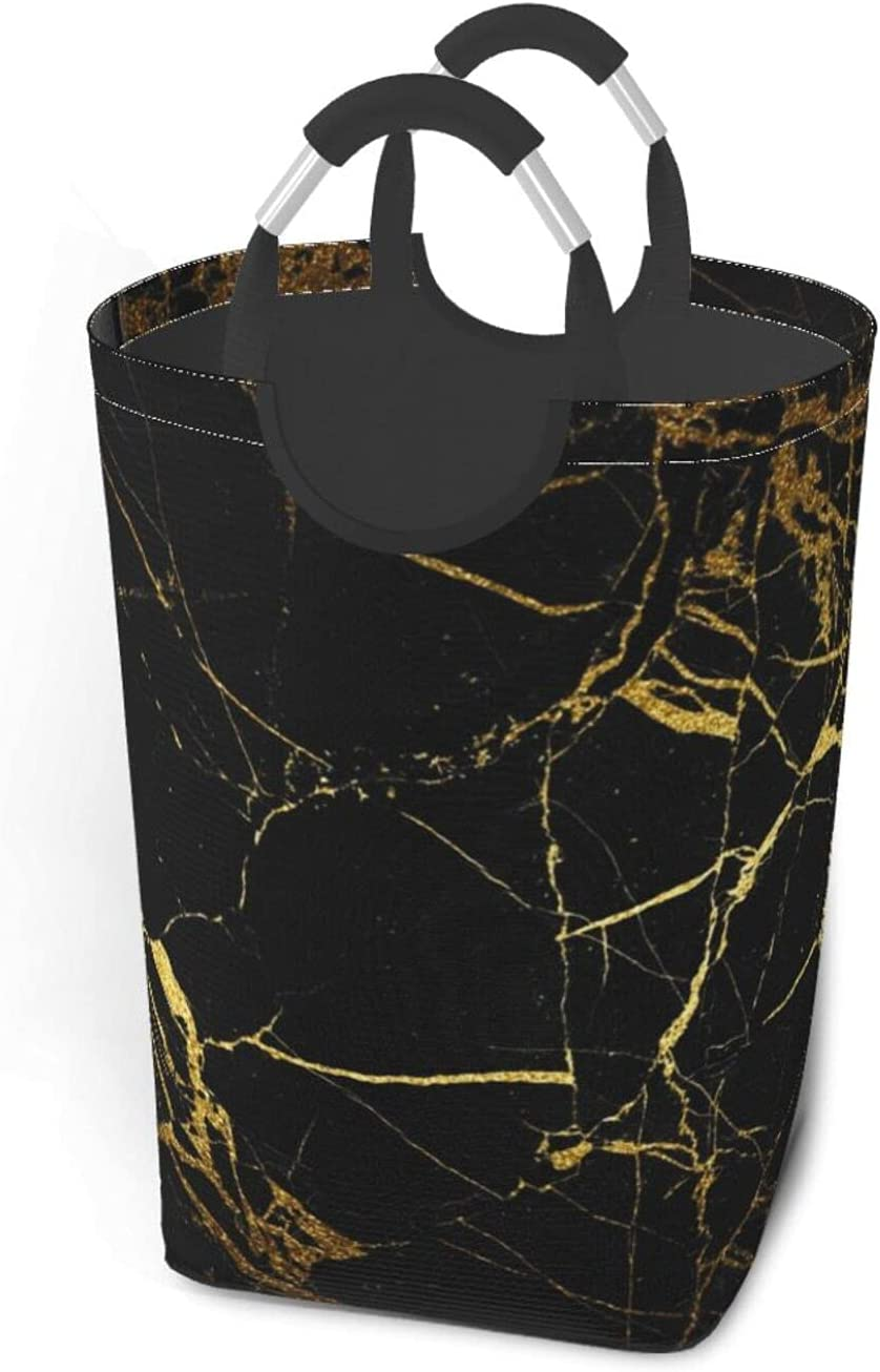 Black And Gold Background Large Dirty Bag OFFicial site Clothes Portable Austin Mall