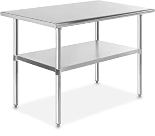 GRIDMANN NSF Stainless Steel Commercial Kitchen Prep & Work Table – 48 in. x 30 in.
