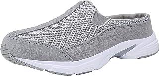Sponsored Ad - FANTURE Womens Mesh Breathable Casual Sneakers Clog Mule Ultra Lightweight Slip on Walking Shoes Genuine Su...