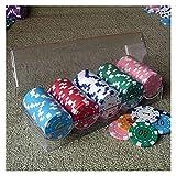 GAOSHENGWUJINGD Fichas de Poker Profesionales Poker Ruleta Fichas De Casino, Juegos De Casino Tarjeta De Chips Cubiertas Baccarat Accesorios del Juego Tokens Juegos De Mesa Y Entretenimiento