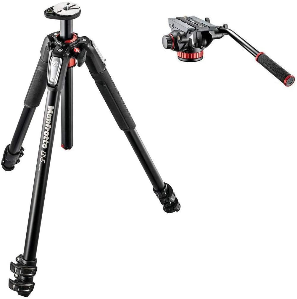 Manfrotto 055XPROB Black Aluminum Same All items free shipping day shipping with MVH502AH Tripod