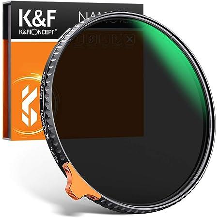 K&F Concept 可変NDフィルター 67mm ND2-ND400 HD版レンズフィルター Nano-X 光学ガラス 28層ナノコーティング 薄型 防水防塵【メーカー直営店】