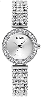 Quartz Watch Womens 30 Meters Waterproof Lady Watch on Sale Birthday Gift with Stainless Steel Diamond Band