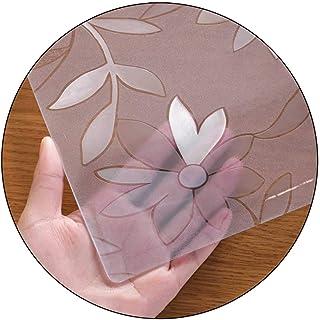JMSL Bordsdukar transparent bordsduk kök restaurang PVC halkfri lätt att rengöra genomskinlig bordstablett krysantemummöns...