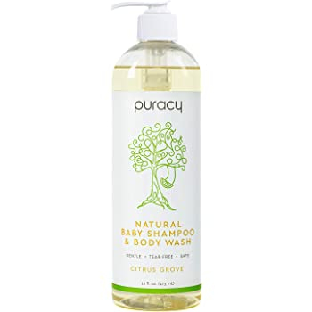Puracy Natural Baby Shampoo & Body Wash, Tear-Free Soap, Sulfate-Free, 16 Ounce