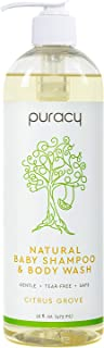 Puracy Natural Baby Shampoo and Body Wash, Citrus Grove, Clear, 473ml