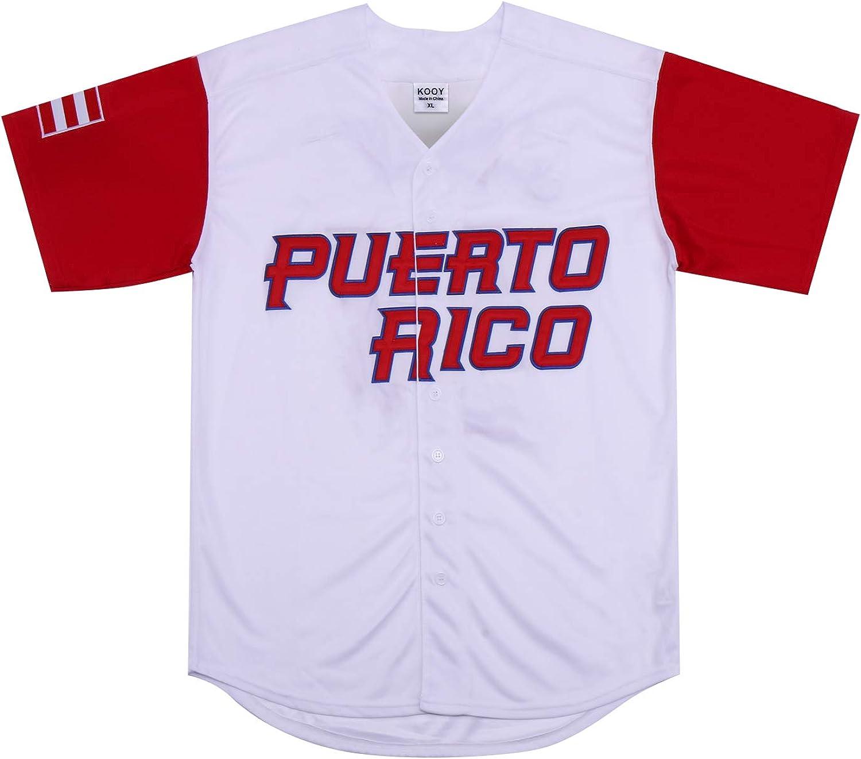 Kooy Roberto Clemente #21 Puerto Rico World Classic Baseball Jersey Men