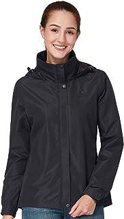 Women's Waterproof Rain Jacket Hooded Rain Coat Outdoor Windbreaker Lightweight Rainwear for Hiking