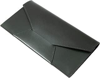 Dom Teporna Italy 極薄 財布 長財布 本革 牛革 イタリアンレザー 薄い ウォレット さいふ シンプル カード入れ お札入れ マネークリップ並みの薄型 ミニ財布 封筒型 おしゃれ ロングウォレット