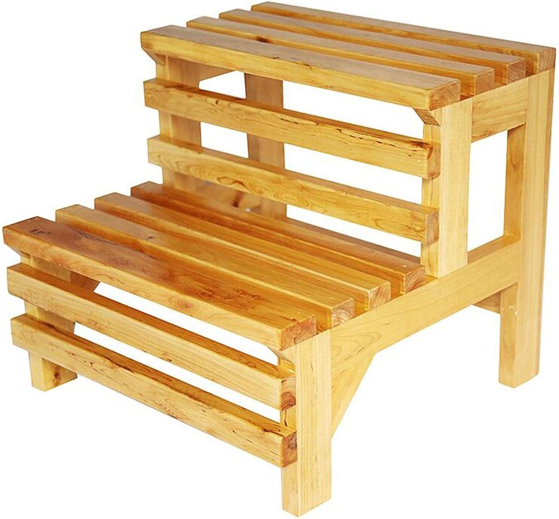 FEI Bequem Wooden Utility Step Badezimmerhocker Stark und langlebig